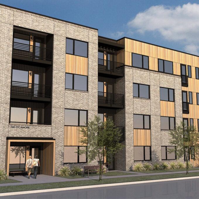 NW Corner South Building Rendering